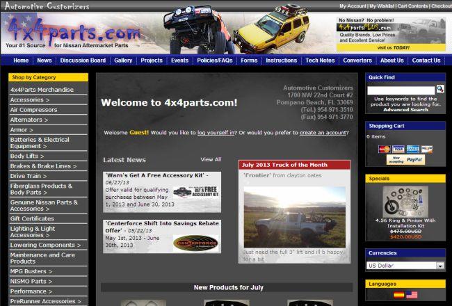 Интернет-магазин 4x4parts.com