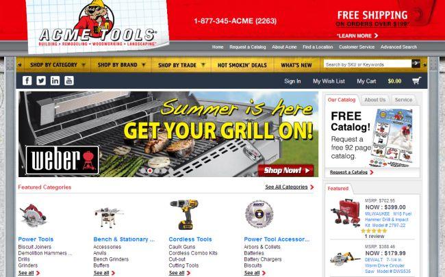 Интернет-магазин Acmetools.com
