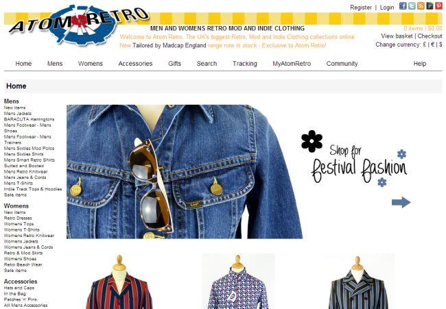 Интернет-магазин Atomretro.com