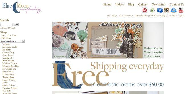 Интернет-магазин Bluemoonscrapbooking.com