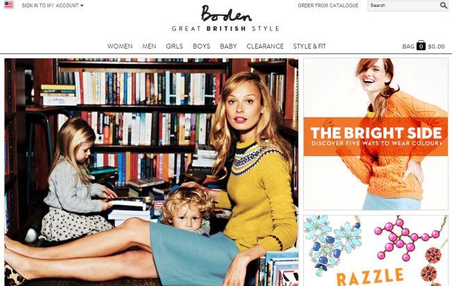 Интернет-магазин Bodenusa.com