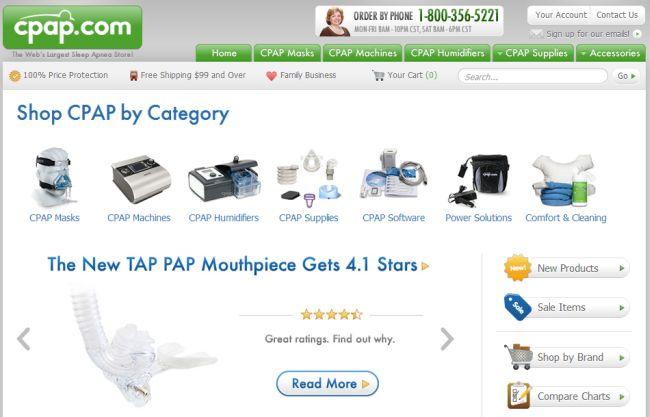Интернет-магазин Cpap.com