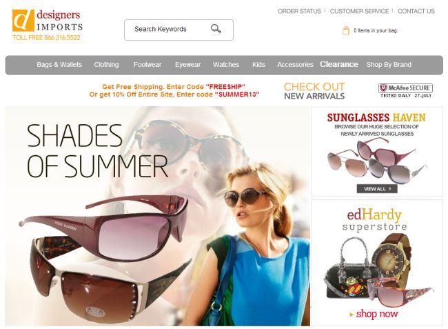 Интернет-магазин Designersimports.com
