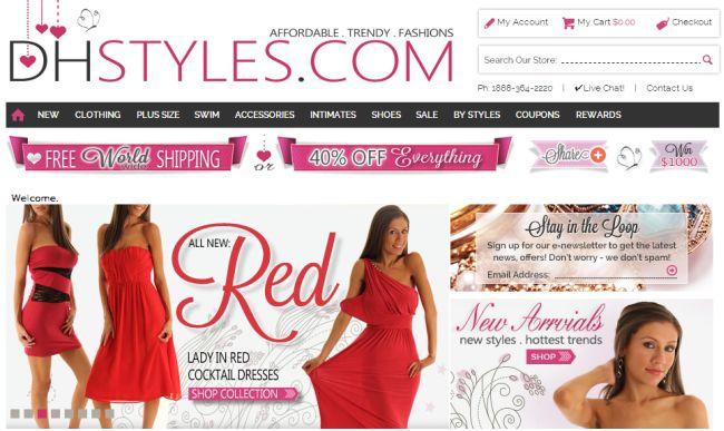 Интернет-магазин Dhstyles.com