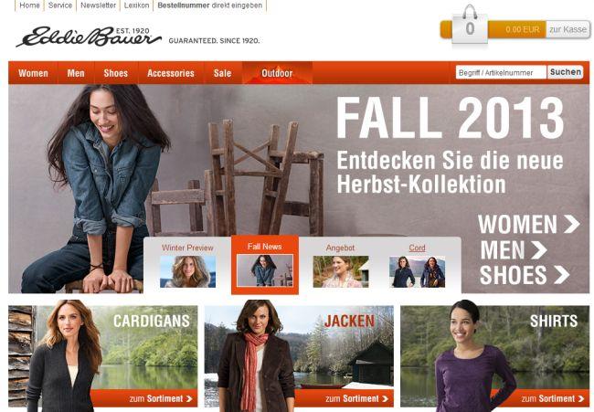 Интернет-магазин Eddiebauer.de