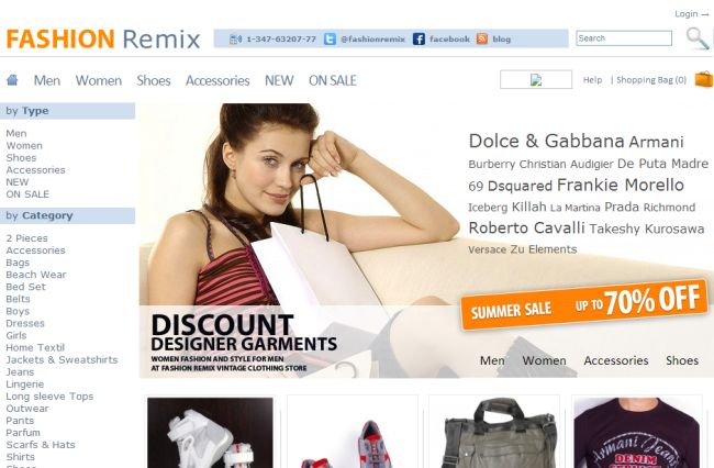 Интернет-магазин Fashionremix.com