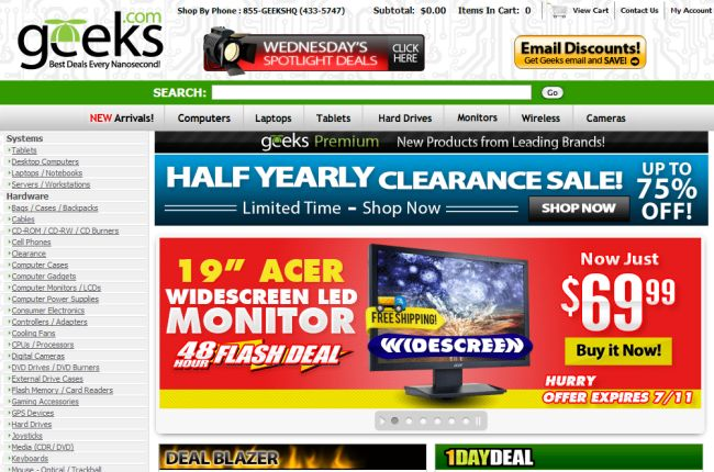 Интернет-магазин Geeks.com