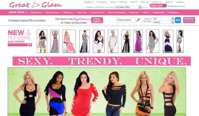 Интернет-магазин Greatglam.com