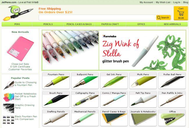 Интернет-магазин Jetpens.com
