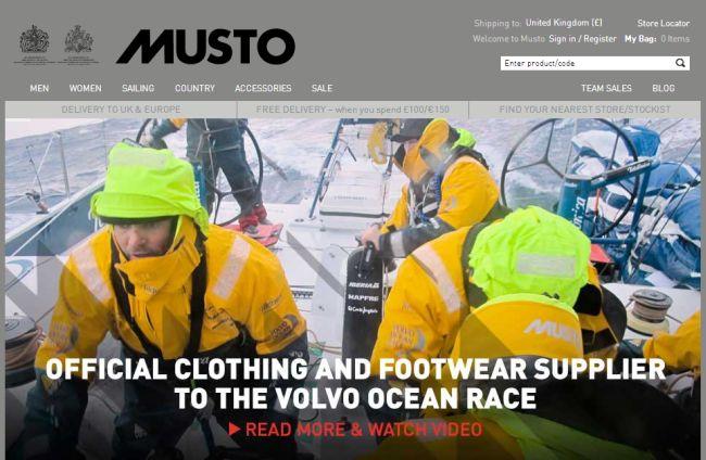 Интернет-магазин Musto.com