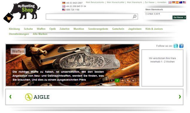 Интернет-магазин Myhuntingshop.de