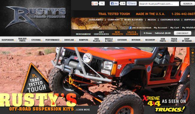 Интернет-магазин Rustysoffroad.com