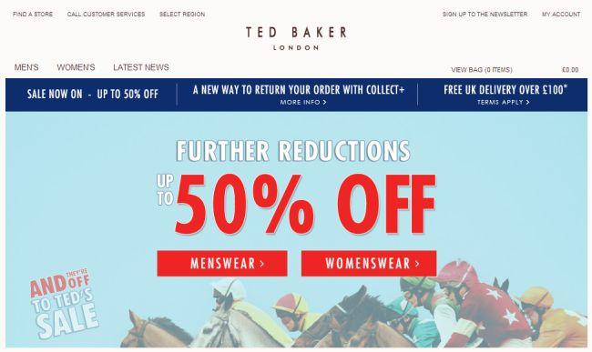 Интернет-магазин Tedbaker.com
