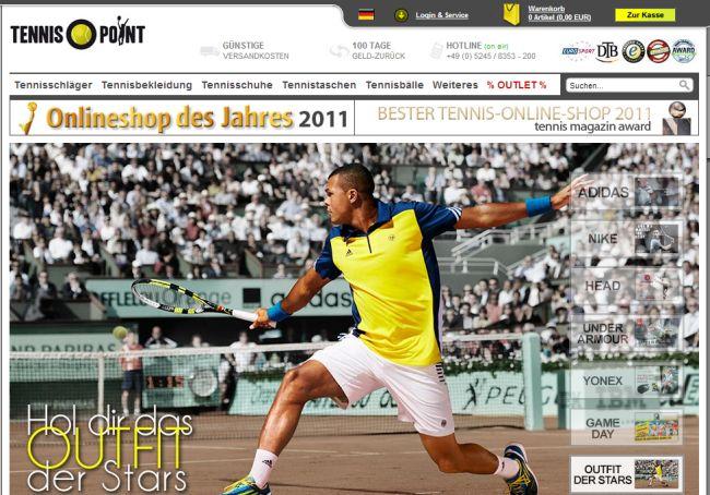 Интернет-магазин Tennis-point.de