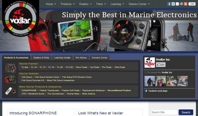 Интернет-магазин Vexilar.com