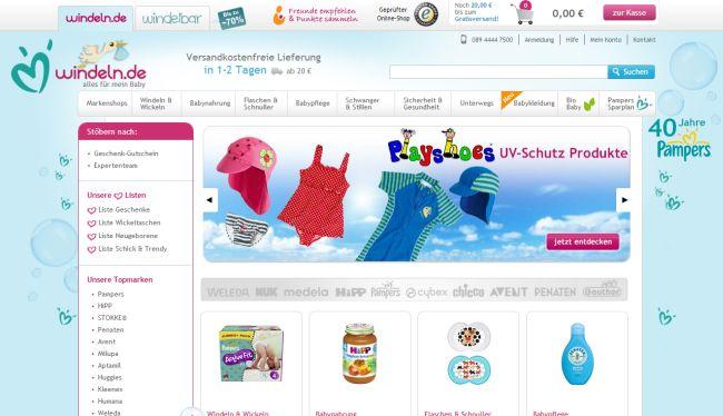 Интернет-магазин Windeln.de