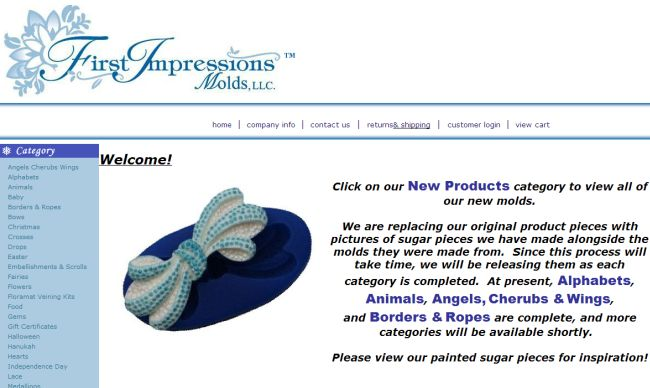 Интернет-магазин Firstimpressionsmolds.com
