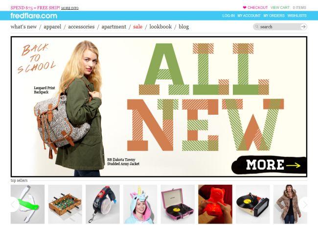 Интернет-магазин Fredflare.com
