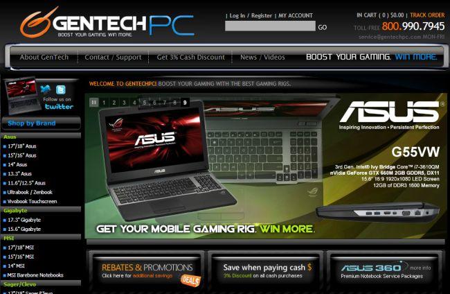 Интернет-магазин Gentechpc.com