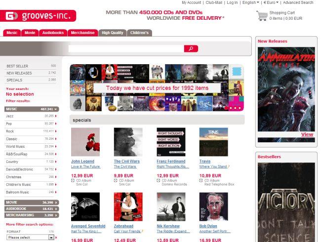 Интернет-магазин Grooves-inc.com