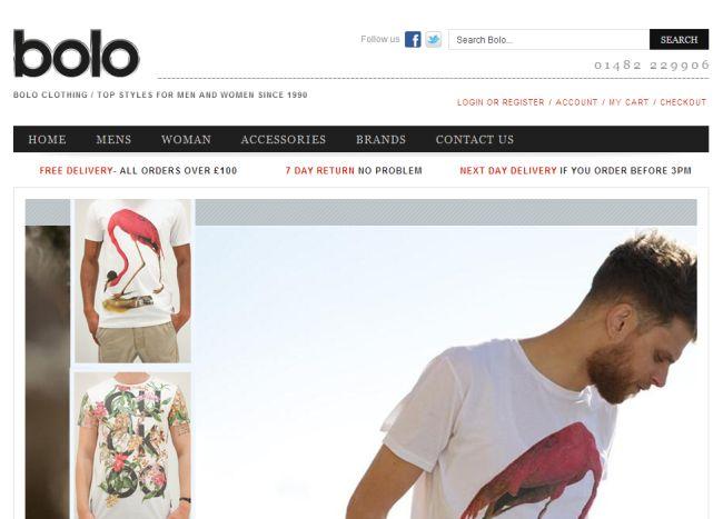Интернет-магазин Boloclothing.co.uk