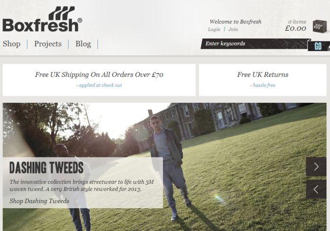 Интернет-магазин Boxfresh.co.uk