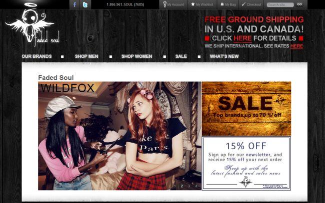 Интернет-магазин Fadedsoul.com