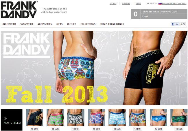 Интернет-магазин Frankdandy.com