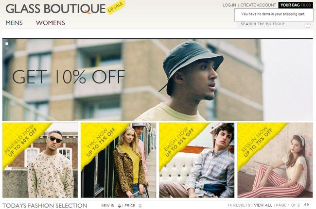 Интернет-магазин Glassboutique.co.uk