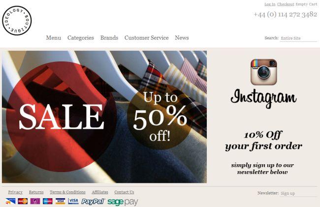Интернет-магазин Ideologyboutique.co.uk