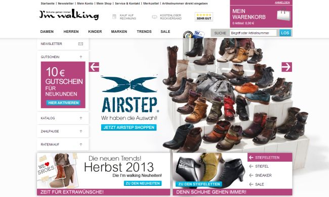 Интернет-магазин Imwalking.de
