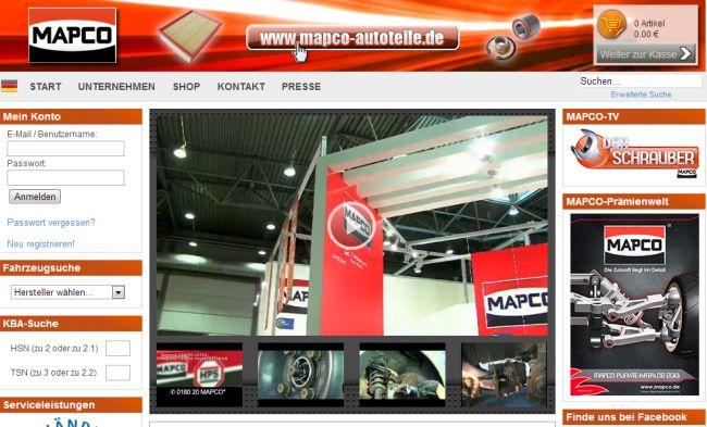 Интернет-магазин Mapco.de