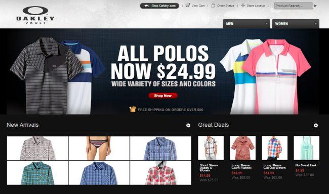 Интернет-магазин Oakleyvault.com
