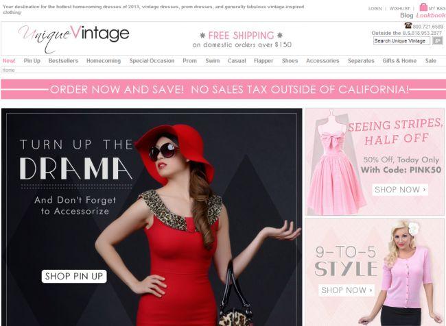 Интернет-магазин Unique-vintage.com