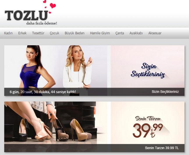 Интернет-магазин Tozlugiyim.com.tr