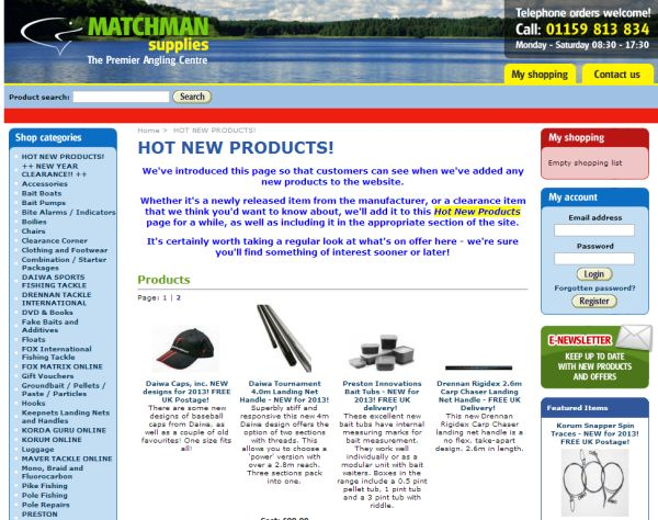 Интернет-магазин Matchmansupplies.co.uk