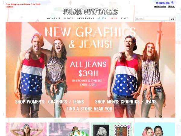 Интернет-магазин Urbanoutfitters.com