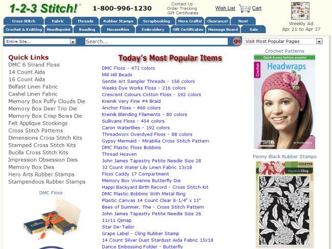 Интернет-магазин 123stitch.com