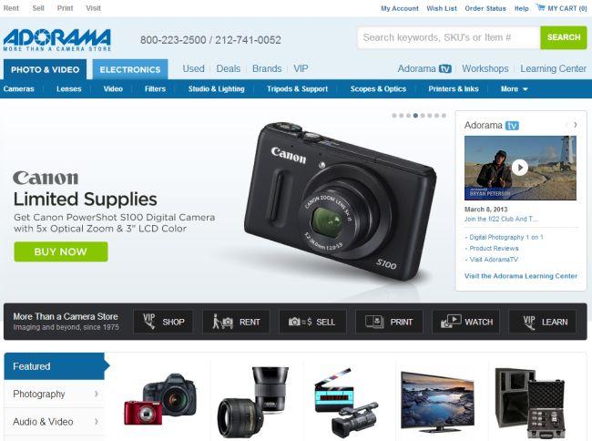 Интернет-магазин Adorama.com