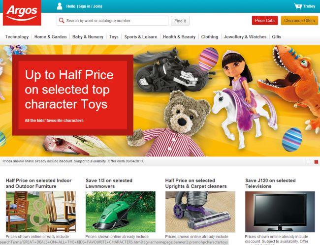 Интернет-магазин Argos.co.uk