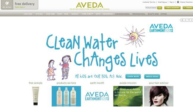 Интернет-магазин Aveda.com