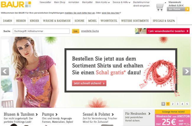 Интернет-магазин Baur.de