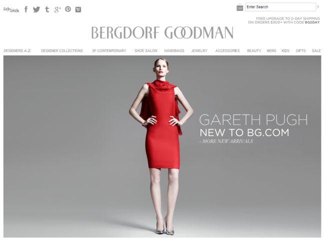 Интернет-магазин Bergdorfgoodman.com