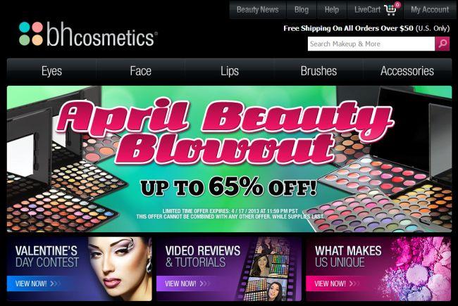 Интернет-магазин Bhcosmetics.com