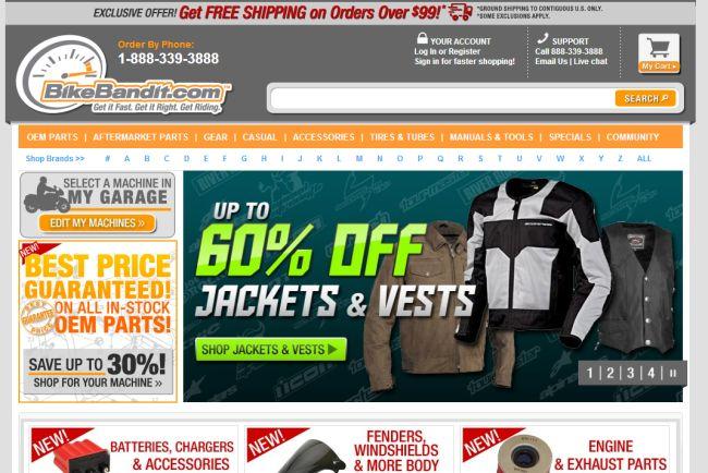 Интернет-магазин Bikebandit.com