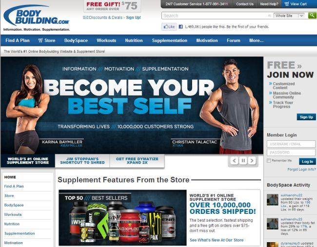 Интернет-магазин Bodybuilding.com