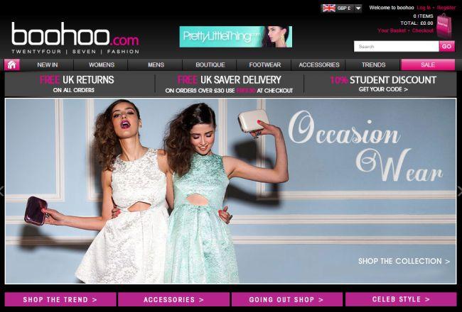 Интернет-магазин Boohoo.com