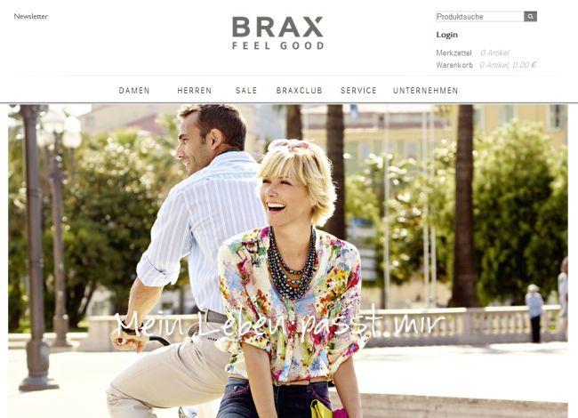 Интернет-магазин Brax.de