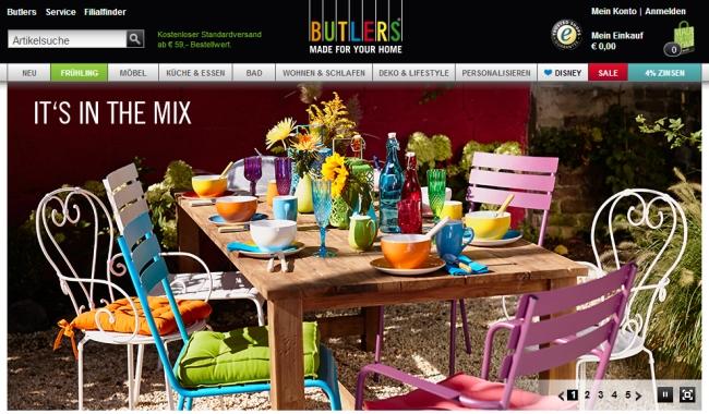 Интернет-магазин Butlers.de