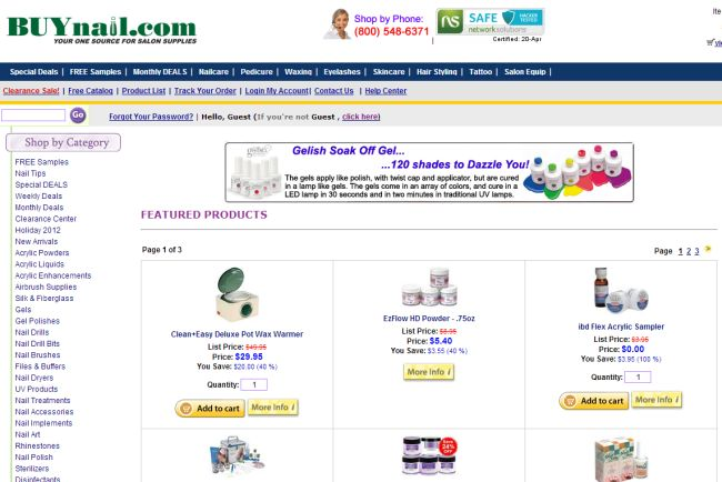 Интернет-магазин Buynail.com